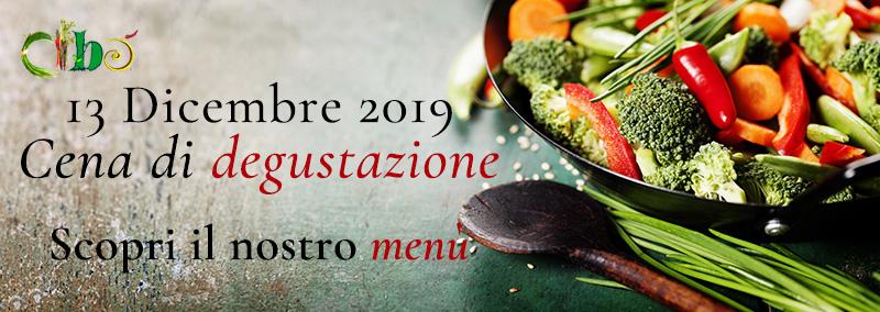 Cena degustazione - 13 dicembre 2019